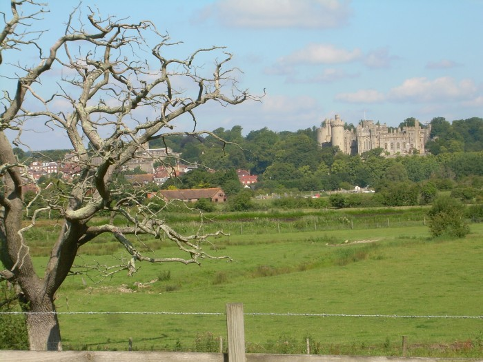 Photo of Arundel across the Arun Valley