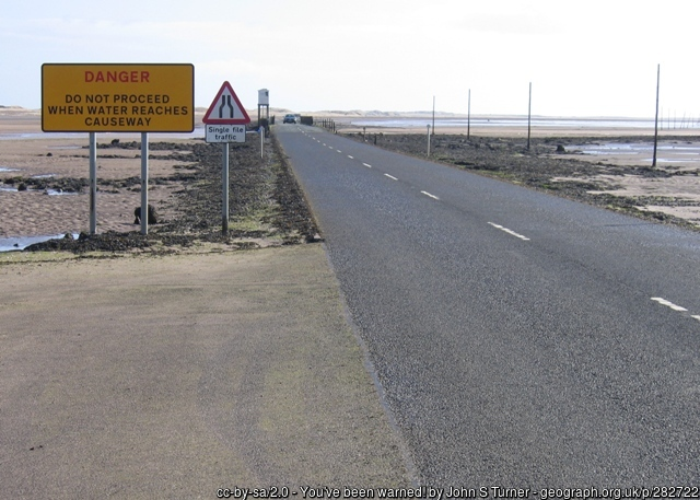 Causway leading to Holy Island, Lindisfarne
