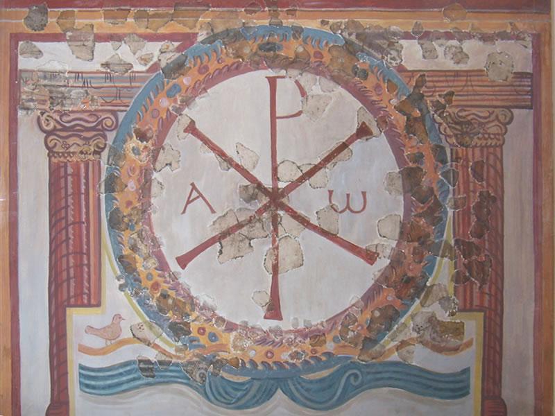 Earliet Christian symbols at Lullingstone Roman villa