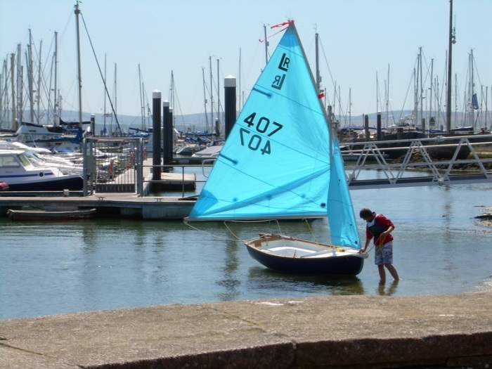 Sailing yachts at Lymington