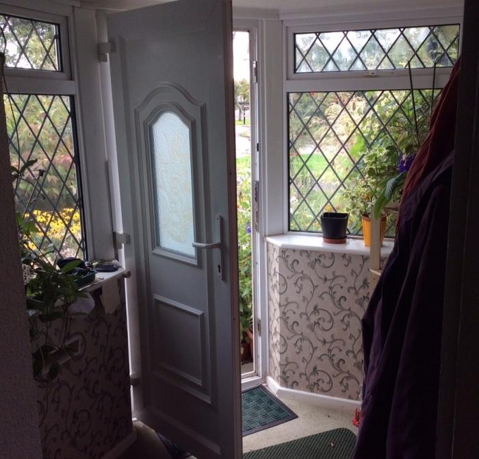 An open door in a home