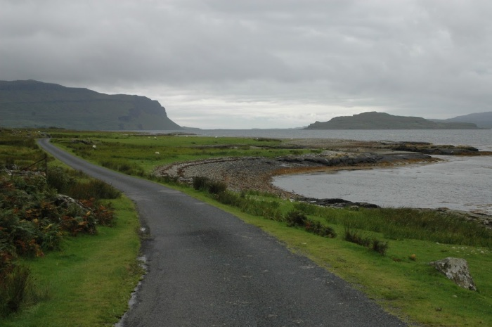 The road to Iona on Mull.