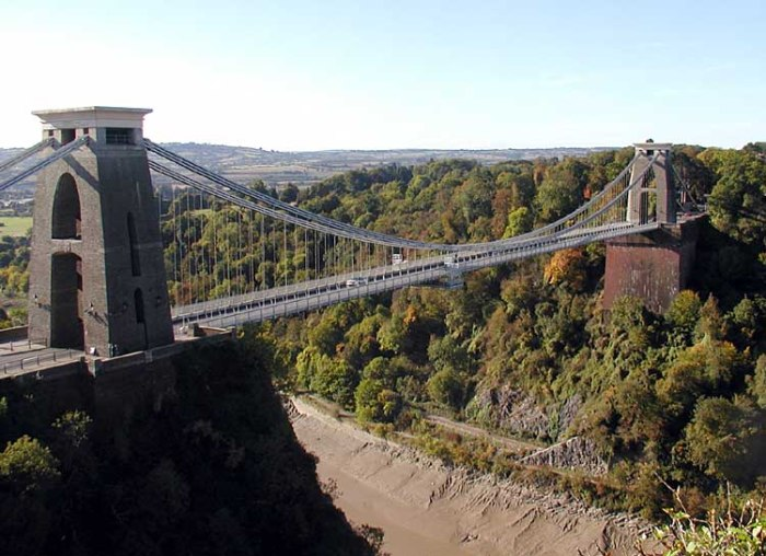 The Avon gorge suspension bridge.