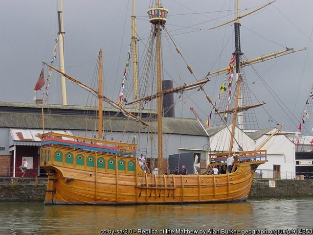 John Cabot's ship 'The Matthew'