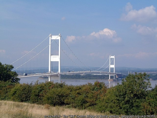 The graceful old Severn bridge