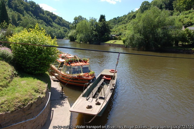 Hand operated ferry across Wordsworth's river Wye