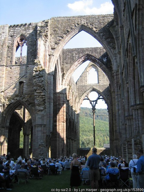Tintern Abbey in the Wye valley - a place of prayer