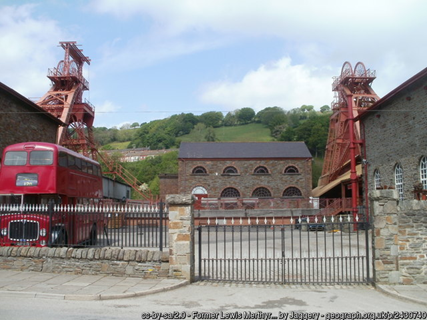 Closed mining pit in Wales