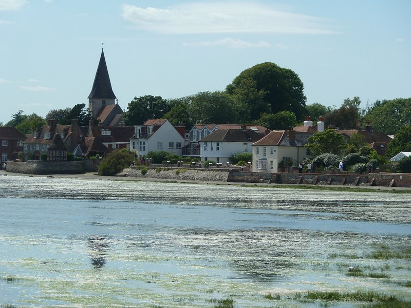 Near high tide at Bosham in Sussex