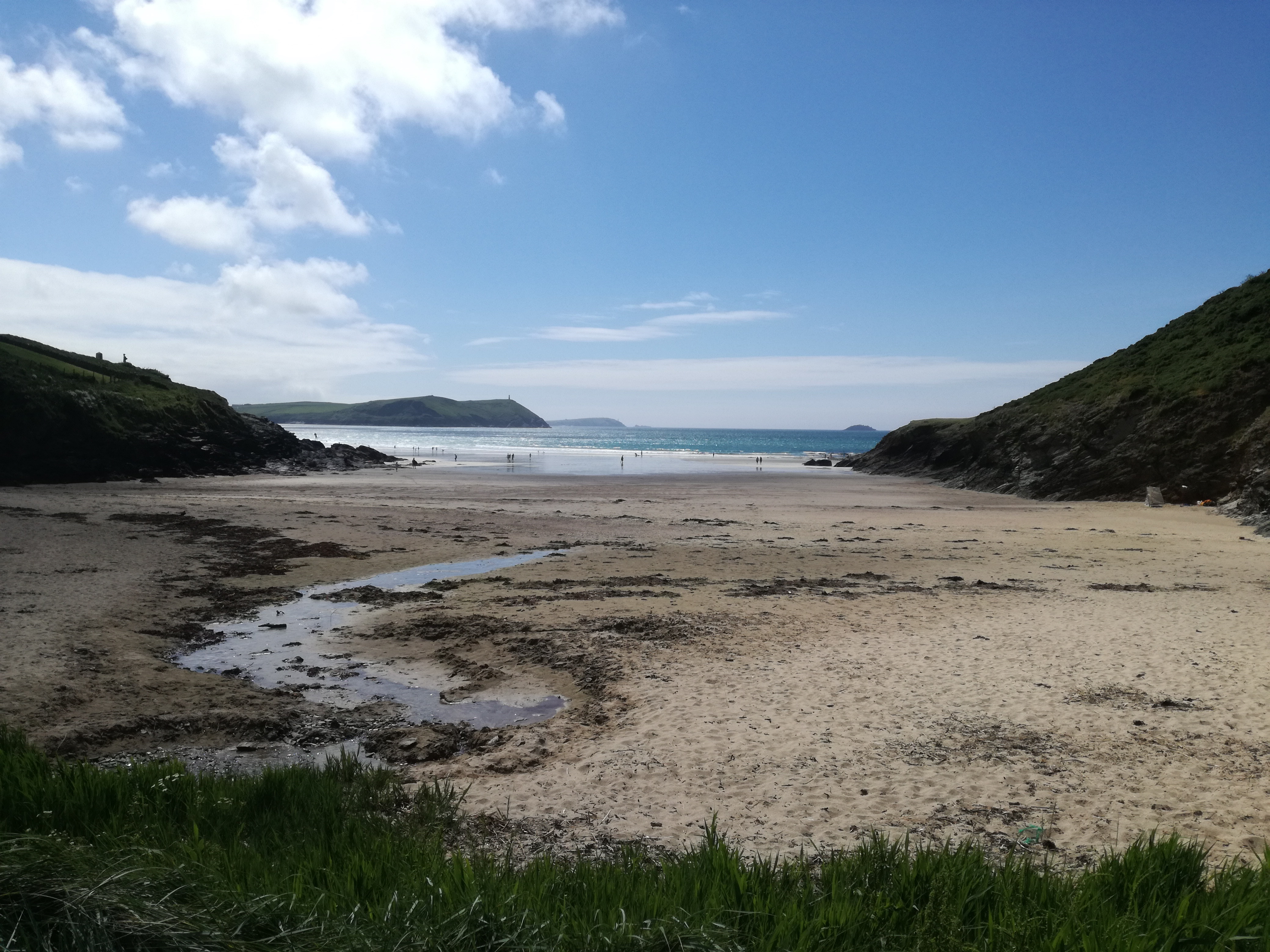Cornish beach at low tide