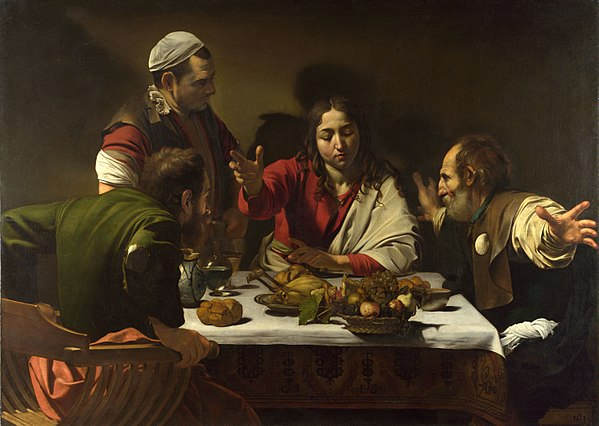 Famous painting The Supper at Emaus'