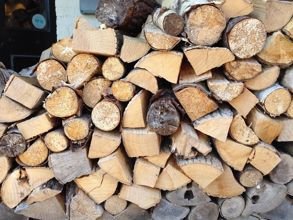 Logs ready for the winter fire