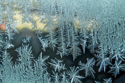 Icy window