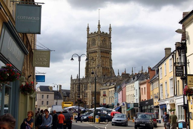 Market place in Cirencester