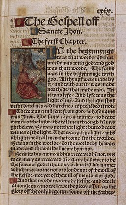 A page from William Tyndale's New Testament nt