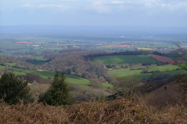 View from the ridge of the Quantock Hills.