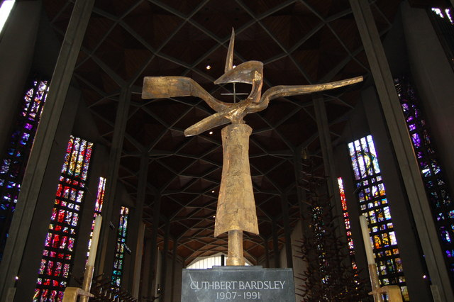 The cross of Nails in new Coventry cathedral
