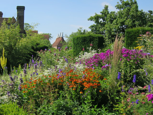 Flower borders packed with colour at Great Dixter