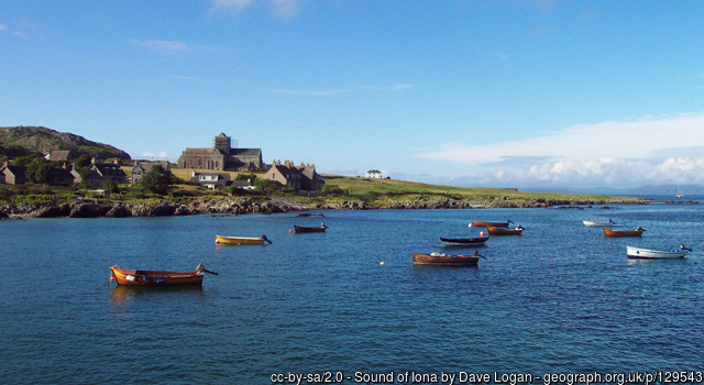 View of Iona from the ferry