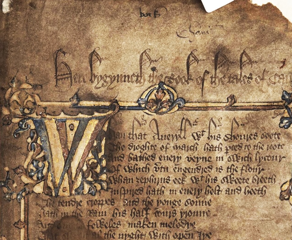 An old manuscript of Chaucer's Canterbury Tales