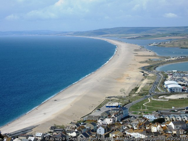 Jurassic coast at Chesil beach, Portland