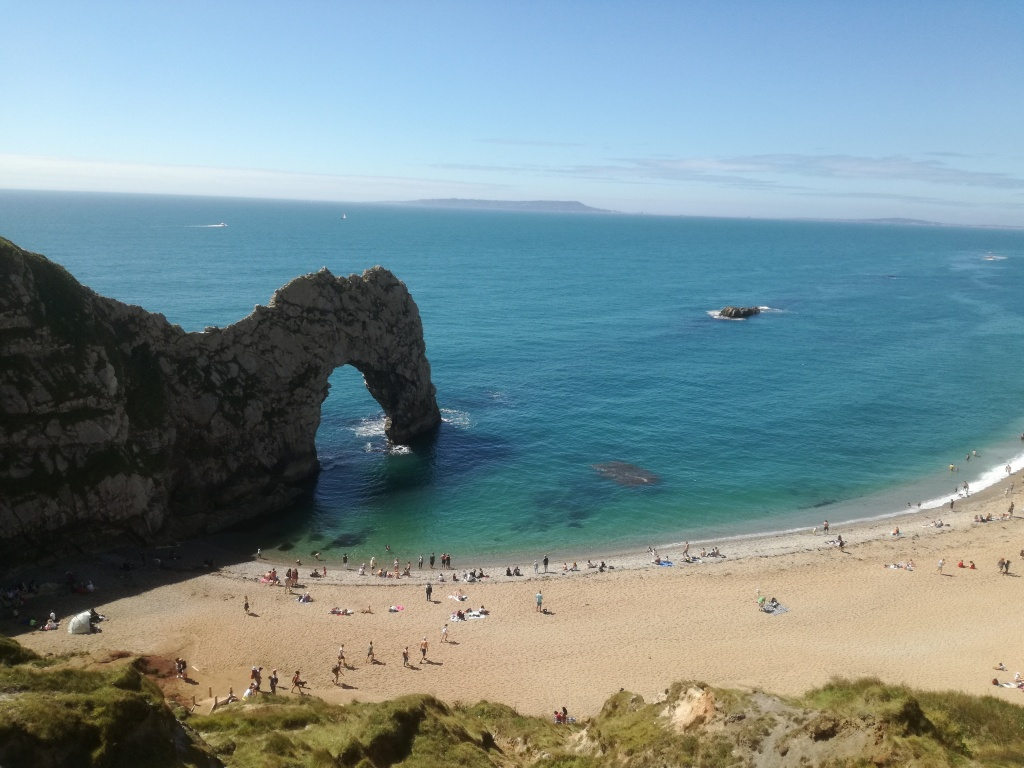 Jurassic coast at dramatic Durdle Door