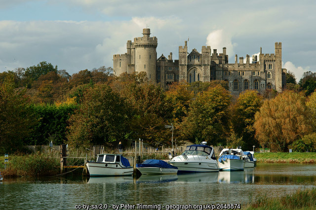 Arundel Castle towers over the river Arun