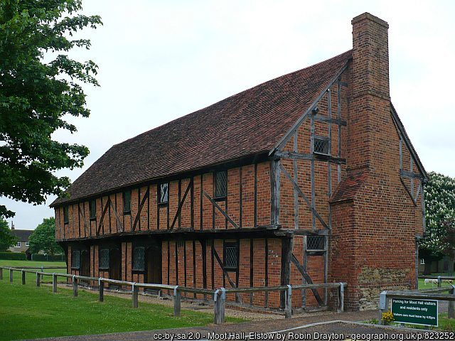 The 17th century Moot Hall in Elstow