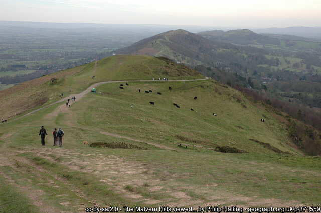 View from the top of the Malvern Hills