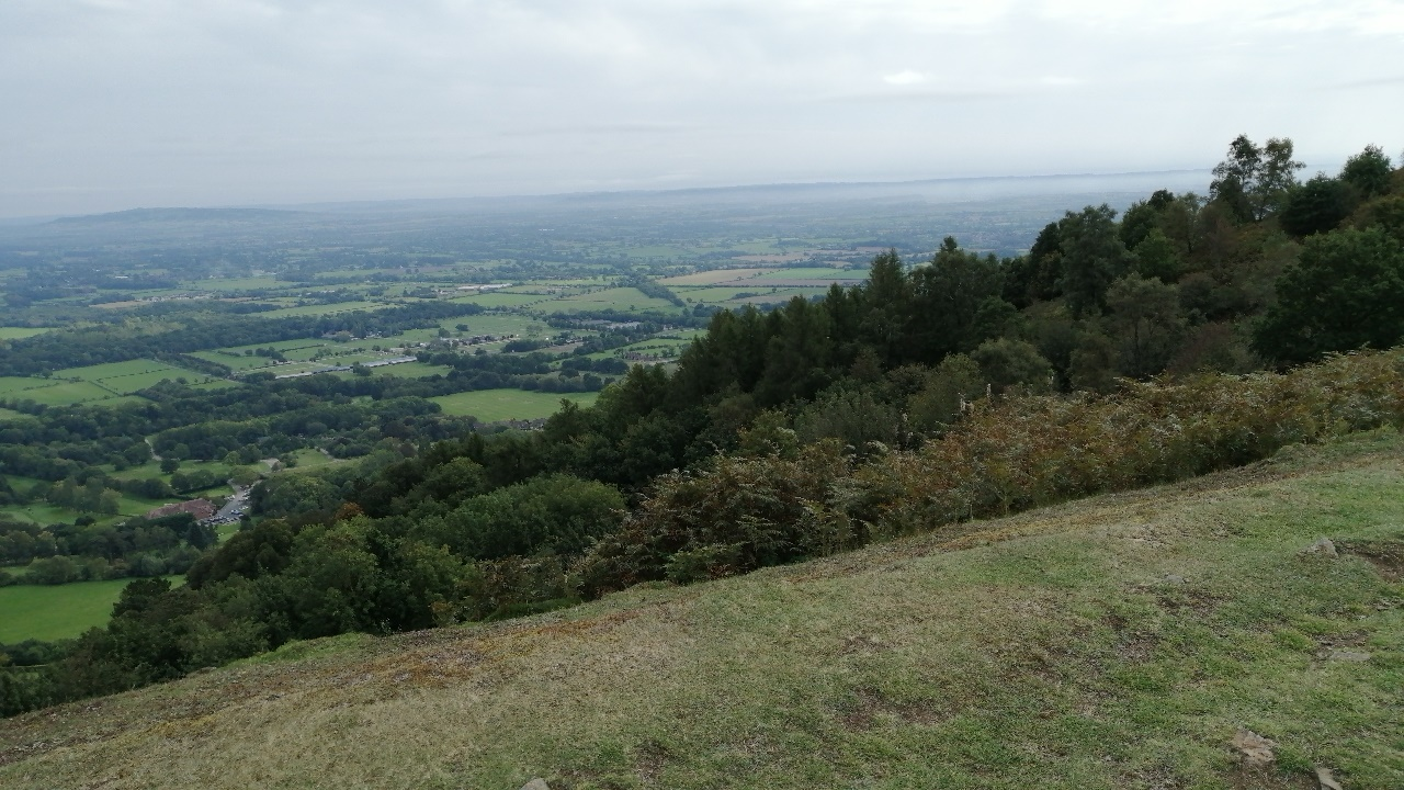 View from the Malvern Hills looking East.