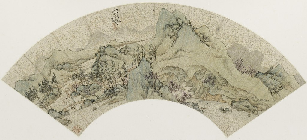Traditional Chinese landscape scene