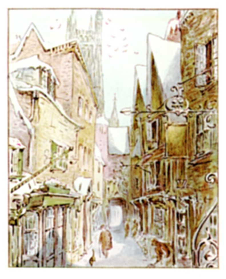 Beatrix Potter drawing of 18th century Gloucester