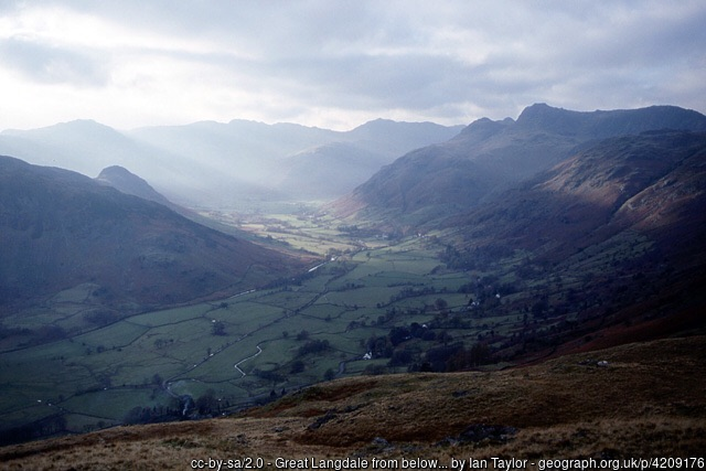 Shaft of sunlight in Great Langdale