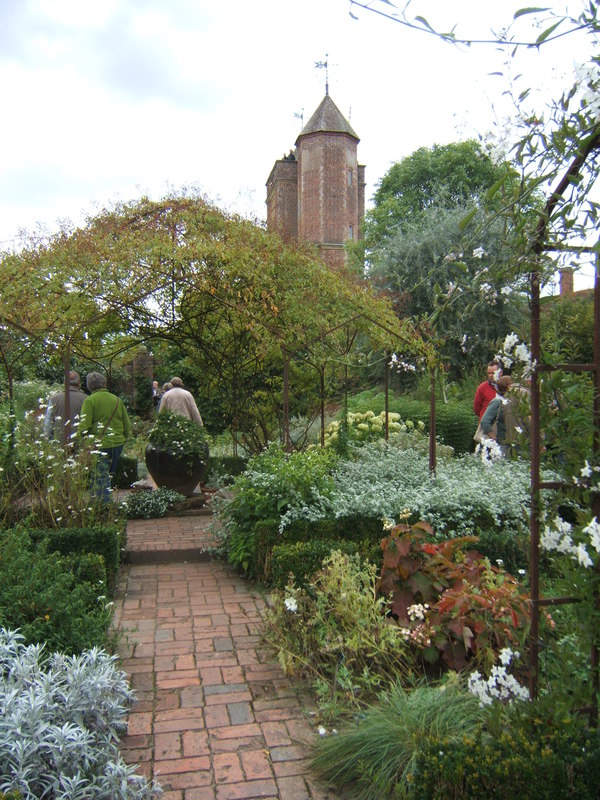 The white garden with Sissinghurst Tower in the background