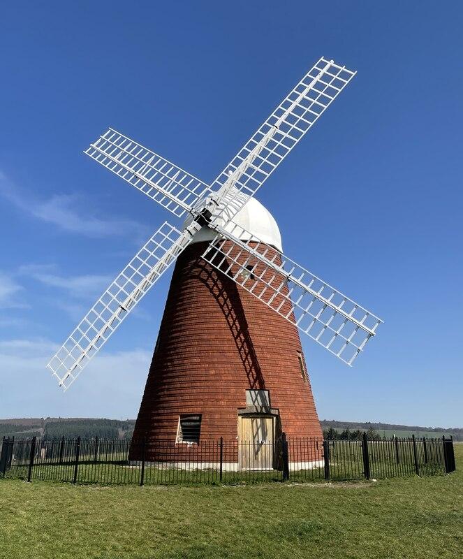 Restored windmill on Halnaker Hill , Sussex